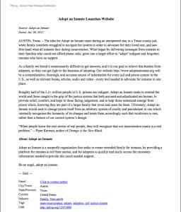 screen shot press release pdf
