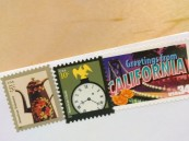 three stamps